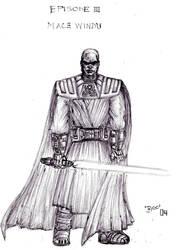 Armored Mace Windu Fan Art by KronnangDunn