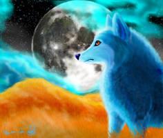 Bluena Moon by NaNaTheMangaCat