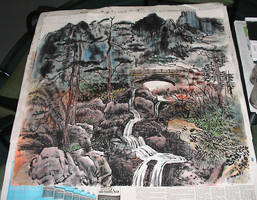 Chinese Water Ink Painting by Ickleronny