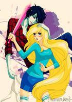 FioLee - Adventure Time (Art-Trade) by Nanaruko
