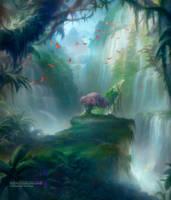 Misty Rainforest by Artofryanyee