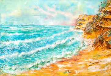 Crimea seaside, oil painting by BeeTatyana
