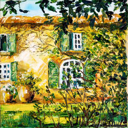 Cozy Cottage IV, oil painting by BeeTatyana