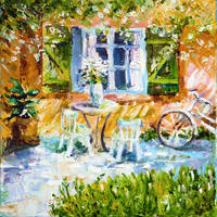 Cozy Cottage III, oil painting by BeeTatyana