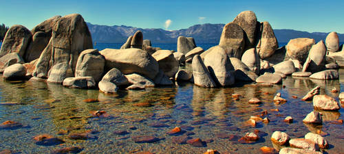 lake Tahoe Rocks by 21stCenturyDamocles