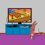 Amy playing Sonic VS Darkness TNR by DanielMania123