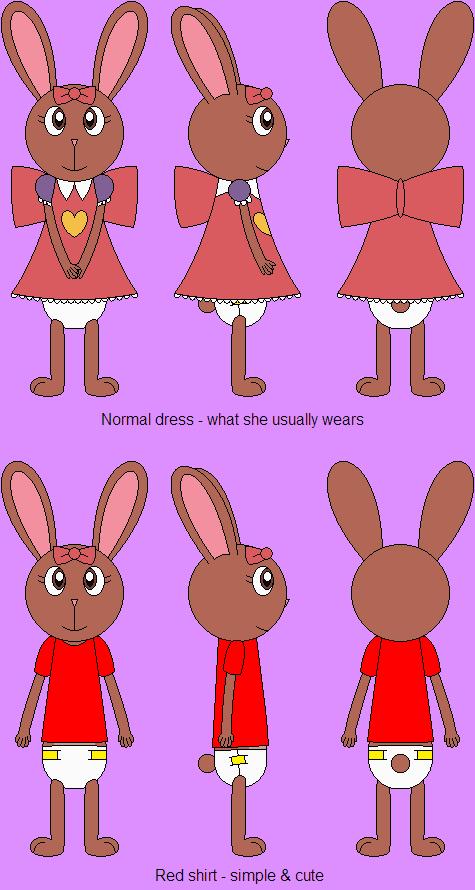 Amy The Baby Bunny - Simple Diaper by DanielMania123