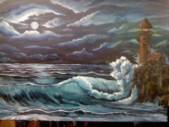 Wet Rock by inkone37