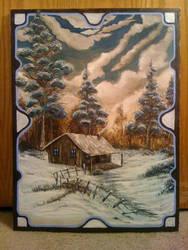 Snow Cap Cabin by inkone37