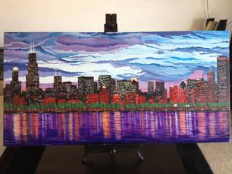 Chicago Skyline by inkone37