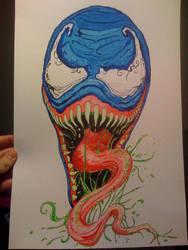 Venom WATER COLOR by inkone37