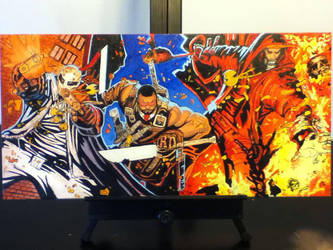 Wu Massacre Oil Painting by inkone37