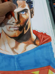 Superman commission WIP by Reybronx