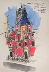 Iglesia De Los Calatrava Y Torre Fenix by vascku