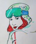 Redhead sketch by vascku