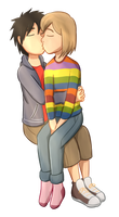Commission 6/8: Hiro And Riley by Foxhatart