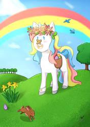 Spring Unicorn Print by Foxhatart