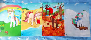 Unicorn print collection! by Foxhatart