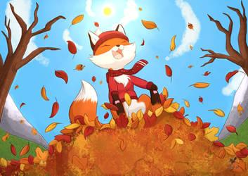 Commission: Fox Calendar September 6/12 by Foxhatart