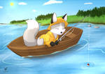 Commission: Fox Calendar august 7/12 by Foxhatart