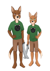 Commission: Big Brown And Little Brown by Foxhatart