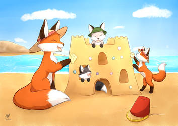 Commission: Fox Calendar July 8/12 by Foxhatart