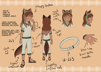 Millie reference by Foxhatart