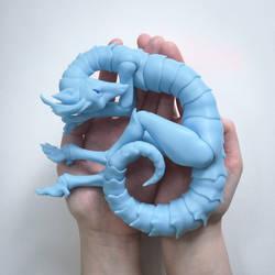 Dragon BJD Blue by CrowBlackJay