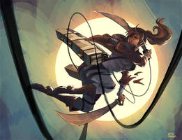 Attack on Titan, Sasha by iiwang