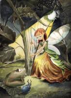 Elf Harpist by asiapasek