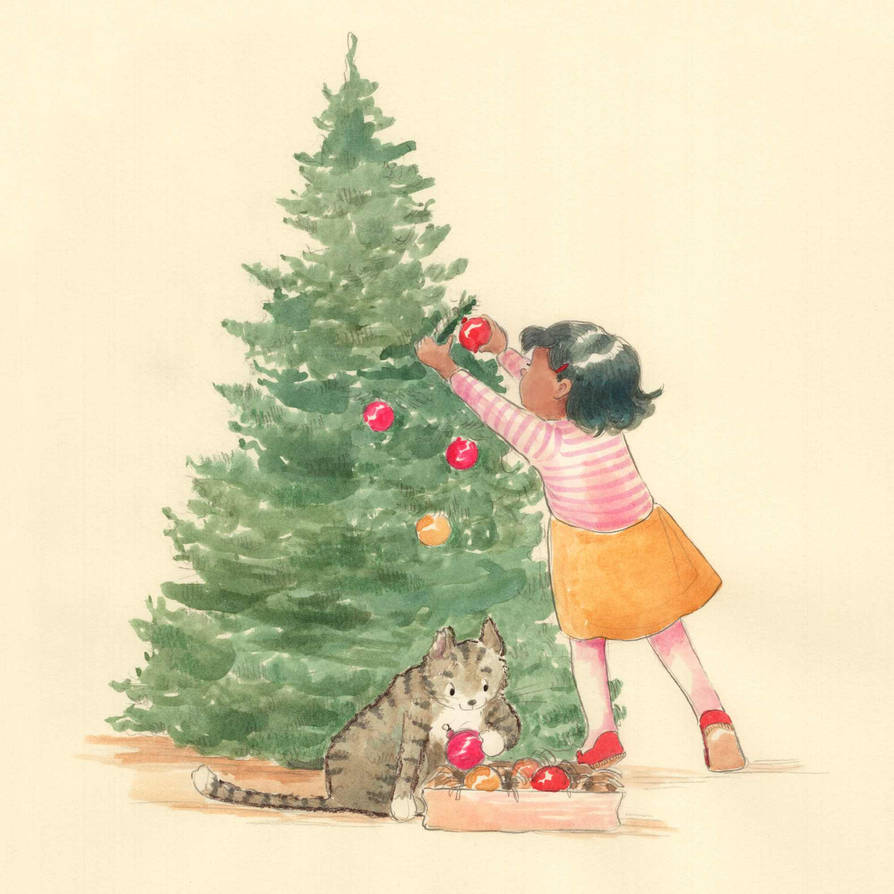 Mo and Christmas Tree by asiapasek