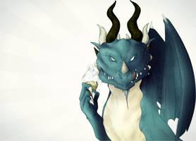 Dragon with Ice Cream by Friendermen
