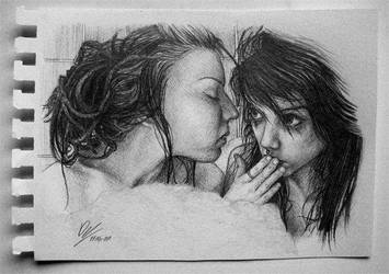 Two Girls in Bath by Deftonys-muse