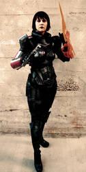 ME3 Renegade Female Shepard by commanderholly