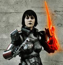 ME3 Renegade Female Shepard pt. 2 by commanderholly