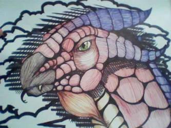 Sharpie Dragon by razrroth