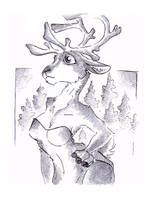 Caribou Of The North by Code-Shark