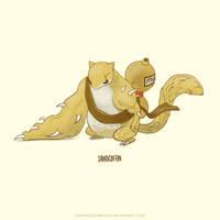 Sandshrew Super Evolve by Sheharzad-Arshad