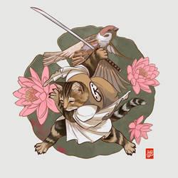 Cat Samurai by Sheharzad-Arshad