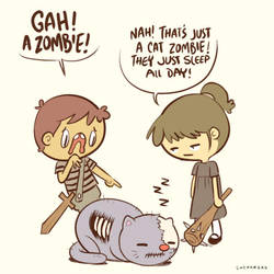 Cat zombie by Sheharzad-Arshad