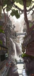 Waterfall city - finished by Sheharzad-Arshad
