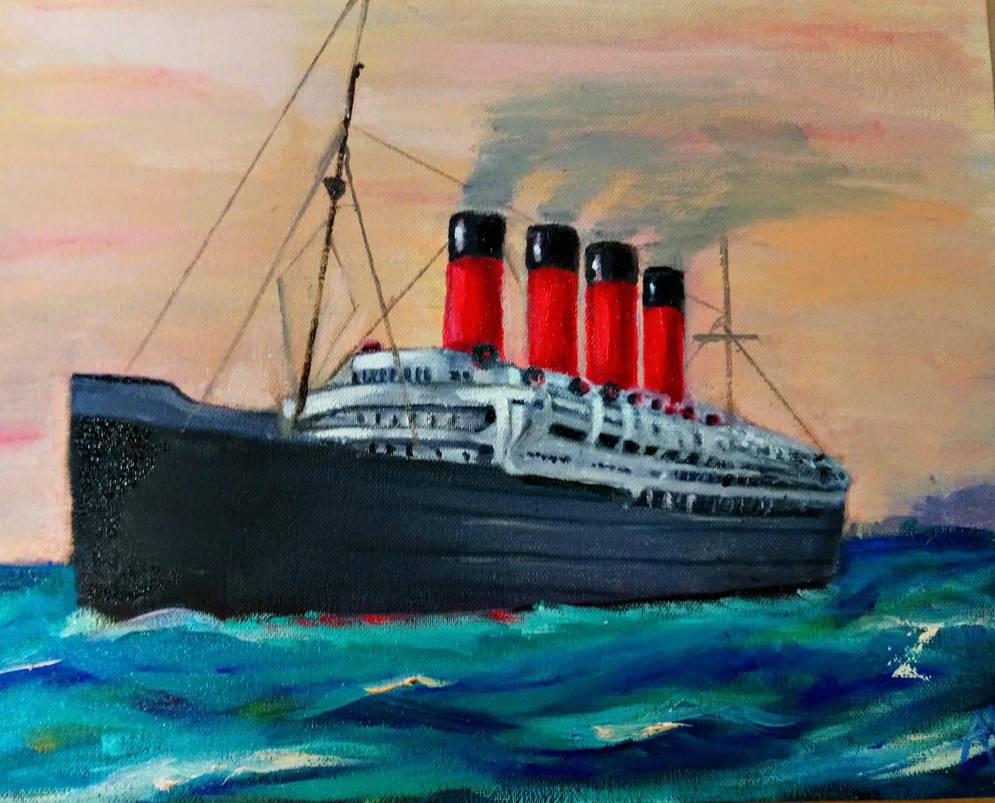 Lusitania ship by Husky112