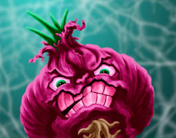Raging Red Onion by dragynsart