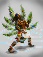 CHoW# 382 African God of Thunder and Dance by dragynsart
