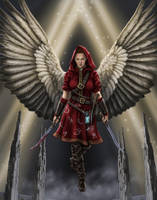 Avenging Angel Full Color by dragynsart