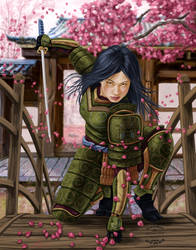 Onna Bugeisha by dragynsart