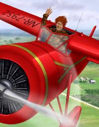 Amelia Flying by dragynsart