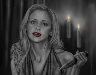 Vampire (Slayer) Buffy by dragynsart