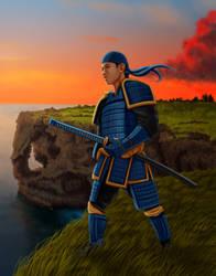Samurai Cover by dragynsart
