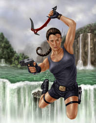 lara croft by dragynsart
